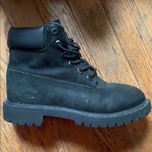 Kids black 6 inch  timberland boot size 13